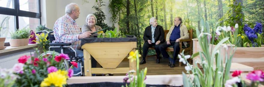 Im neuen Gartenzimmer passt sich die Gartenarbeit an das Alter der Bewohner an.