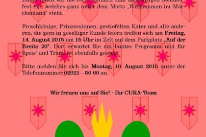 Das große Sommerfest steht vor der Tür!