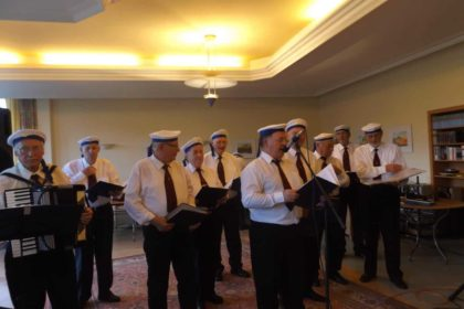 Männerchor aus Ferdinandshof im Cura Seniorencentrum Pasewalk