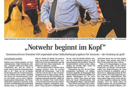 Selbstbehauptungskurs für Senioren im Dresdner Hof