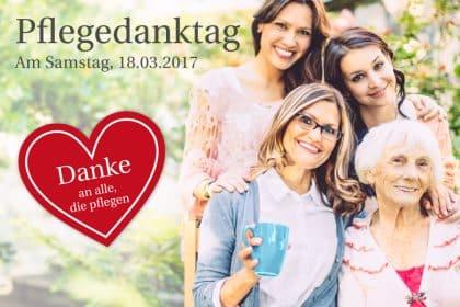 Am 18. März 2017 ist Pflegedanktag in Schönheide- Sie sind herzlich eingeladen!