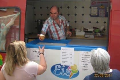 Eiswagen in Bruchsal