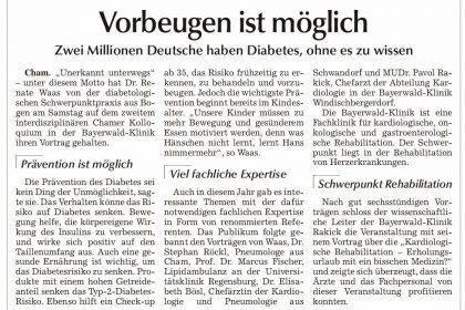 """""""Chamer Zeitung"""" berichtet über das 2. Chamer interdisziplinären Kolloquium"""