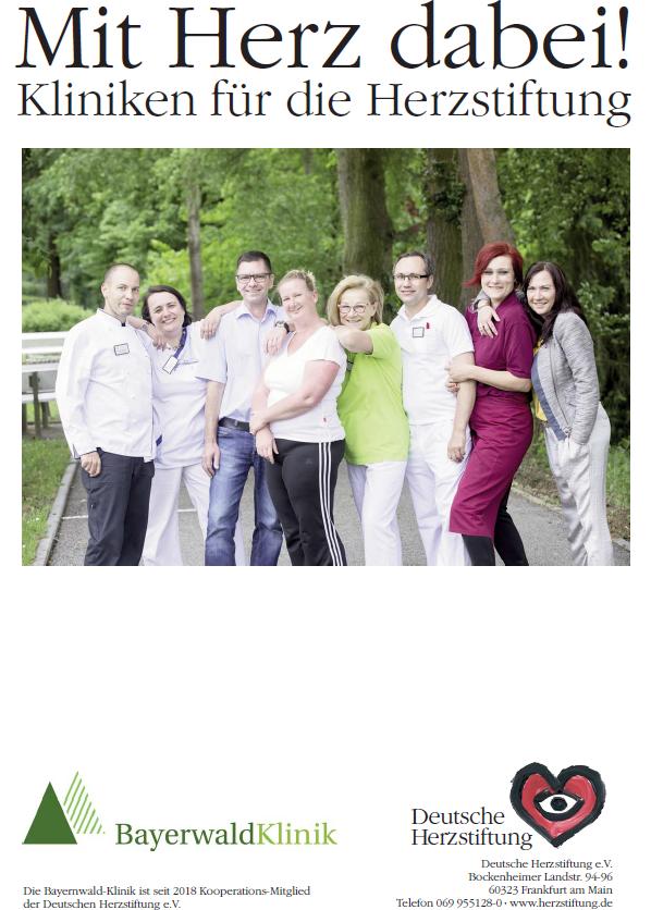 Bayerwald-Klinik hat Kooperationsmitgliedschaft mit der Deutschen Herzstiftung