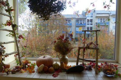 Herbstimpressionen in unserem Haus