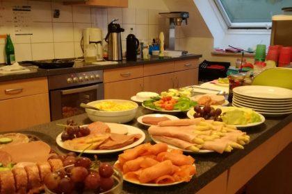 So wird im Cura Haus gefrühstückt