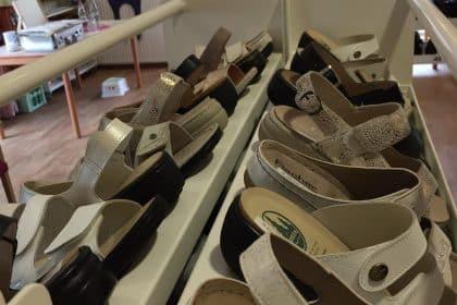 Hausinterner Schuhverkauf….