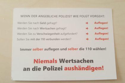 Polizeivortrag: Im Alter sicher leben!