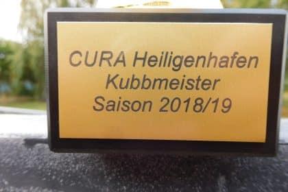 Erster CURA Kubb-Meister wurde geehrt!