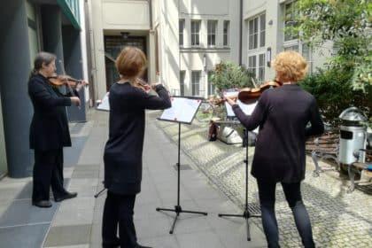 Das Gewandhausorchester Leipzig besuchte den Dresdner Hof