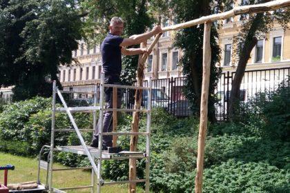 Eine Klangstraße schmückt bald den Garten des Angelika-Stiftes