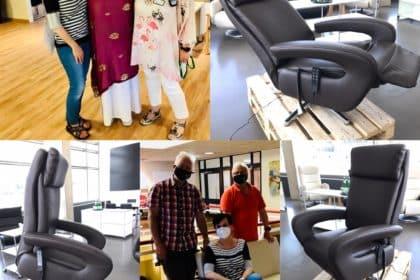 Sechs Sessel mit Aufstehhilfe – Großzügige Spende