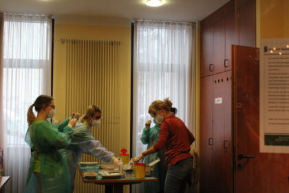 Impfstart im Angelika-Stift Leipzig