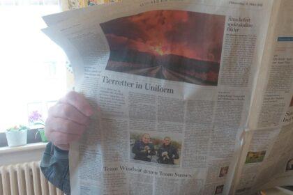 Zeitungsschau- täglich beliebt bei allen Bewohner*innen