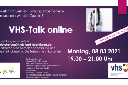 Talk zum Internationalen Frauentag