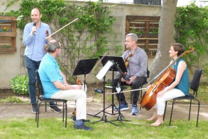 Gartenkonzert mit Streichquartett des Leipziger Gewandhauses im Maximilianstift