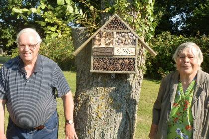 Bewohner bauen ein Zuhause für Insekten!